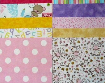20 Flannel Squares 8.5 inch Girl prints