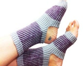 Yoga Socks-Hand Knit-Pilates-PiYo-Dance Socks-Boho Yoga Socks-Pedicure Socks-Bohemian Yoga Socks-Hipster Sox-Unique Original MADE TO ORDER