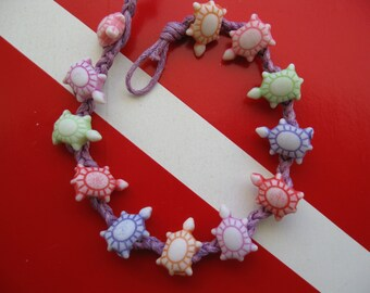 "Sea Turtle ""Friendship"" Bracelet, Multicolored, Fits both Adults and children, A great party favor too"