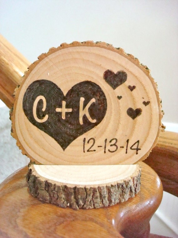 wooden rustic country wedding cake topper items similar to personalized rustic wedding cake topper 27594