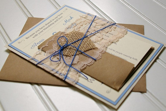 Handmade Rustic Wedding Invitations: Rustic Wedding Invitations: Handmade And Customizable. Rustic
