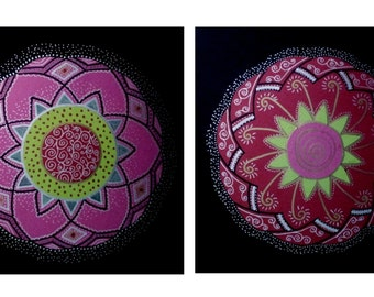 "Original Mandala, Matching Colorful Collection, Sacred Geometry, Ispiringy, 13/9"" Shining, 2 to Sellect, Signed by artist: Z.R. Crazy SALE"