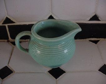 Mccoy Pottery Pitcher Teal