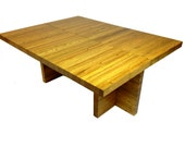 Whiskey Barrel Lids Coffee Table ( square, rectangle, natural oak, modern)