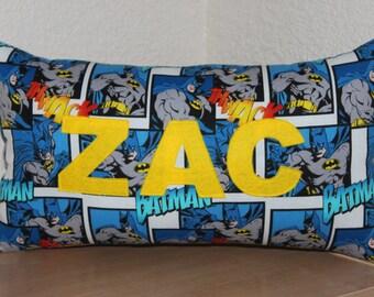 Batman Name Pillow / Custom Kids Pillow / Name Pillow / Batman Pillow / Batman Decoration
