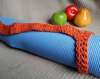 Yoga Mat Strap, Yoga Mat Sturdy Sling Handle - US Shipping Included - Carrot - Ready to Ship Original HH Design