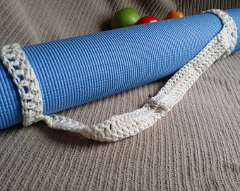 Yoga Mat Strap, Yoga Mat Sturdy Sling Handle - US Shipping Included - Aran, Ready to Ship Original HH Design