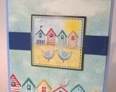 Happy Retirement -  Beside The Seaside ,  Handmade Card