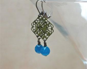 Earrings -Boho Blue