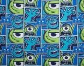 Disney Pixar Monsters INC University Mike & Sulley Fleece Throw Blanket