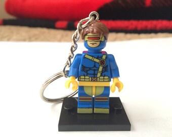 Handmade Cyclops Minifigure Keychain