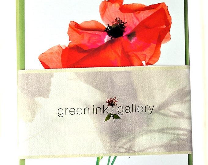Floral Greeting Card Set of 5 Gift Under 25 Dollars