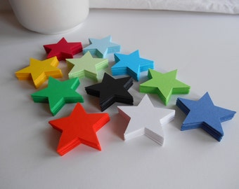 60 Stars (2 inches) Cardstock Die Cuts for Scrapbooking, Cupcake Toppers, Tags, Banners, Centerpieces, Party Favors