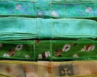 Silk Sari Ribbon, 4 colors, C37