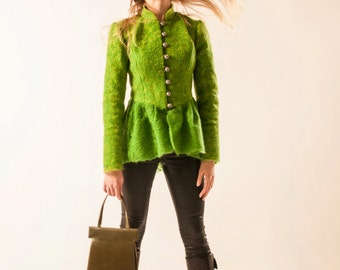 Green jacket with basque (coat)