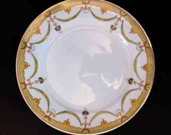 Noritake Nippon Albany Luncheon Plate Art Deco RARE c.1912