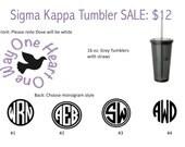 Sigma Kappa Tumblers