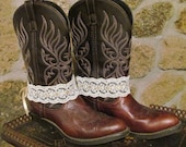 Cowgirl Wedding Lace Boot Bracelets/  Western Wear Accessories/ / Anklets/ Boot Sweets/ Lace Cuffs/ Gold Ribbon