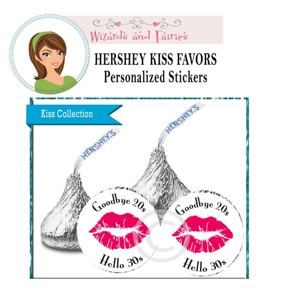 Kissing My 20's Goodbye Party Favors...Choose Your by ...