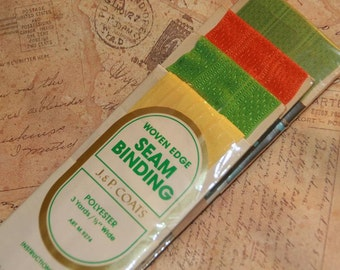 Vintage Seam Binding Still in Original Package-Fall Colors-12 yards