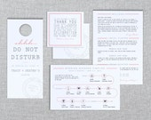 Printable Destination Wedding Welcome Set - In the Post - Itinerary, Door Hanger, Thank You & Timeline