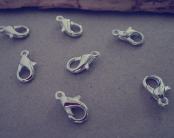 100pcs silver color lobster Clasps 5mmx10mm