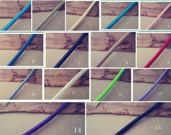 60pcs 2.0mm 17-19 inch adjustable assorted Color (15 color)   korea wax snake string necklace cord with lobster clasp