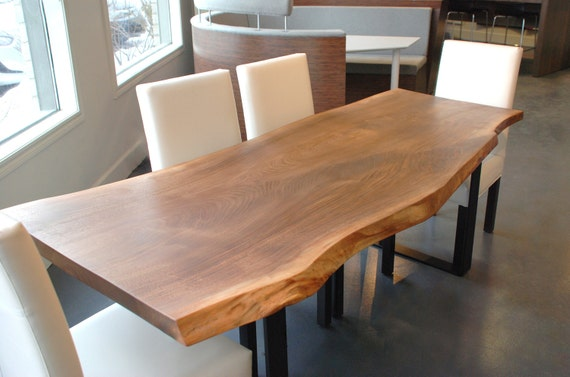 Items Similar To Live Edge Black Walnut Dining Table On Etsy