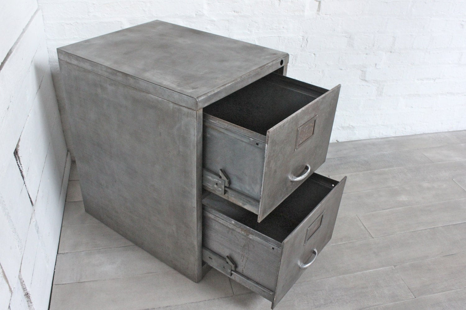 Reclaimed Vintage Urban Industrial Urban 1960s Stripped Patinated Bare  Steel 2 Drawer Filing Cabinet U2013 Reclaimed Industrial Office Furniture