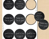 Chalkboard Text-Editable 2 1/2 Inch Round Labels: Fits Avery 41462 Template - Instant Download