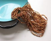 A full hank of Brown Earth tone Seed Beads / Fall colors
