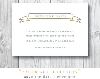 Nautical Collection Printed Save the Dates | Printed or Printable by Darby Cards