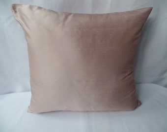 "16"" Handmade contemporary modern pink, dusky pink silk cushion cover, pillow, pillow case, scatter cushion."