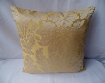 """Clearance Contemporary modern mustard, yellow patterned 16""""x16"""" cushion cover, scatter cushion, pillow case"""