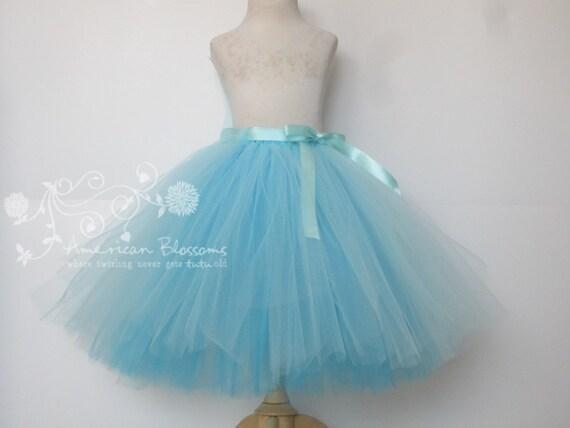 blue flower tutu skirt custom by americanblossoms