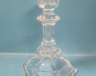 Vintage crystal candlestick