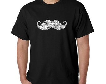 Men's T-shirt - Created out of different  Ways to Style a Moustache
