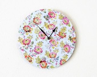 Shabby Chic Wall Clock, Decor and Housewares, Home and Living,  Home Decor, Eco Home, Wall Clock, Unique  Gift