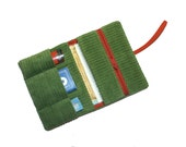 Tobacco pouch smoke pouch red in green