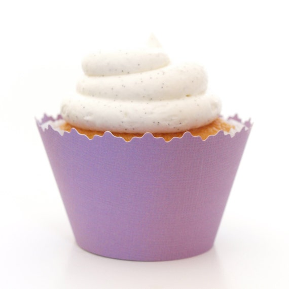 Izmir Purple Solid Color Textured Cupcake Wrappers - Set of 12 - SW016 ...