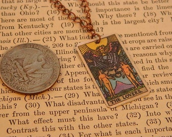 Tarot Card Pendant Tarot Card Necklace Tarot Card Jewelry