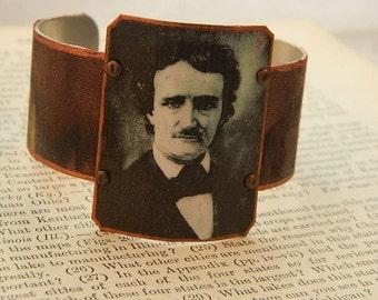 Poe bracelet Edgar Allan Poe jewelry mixed media jewelry