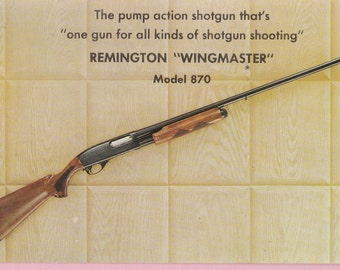 "Ca. 1980s Remington ""Wingmaster"" Model 870 Advertising Postcard - 1571"