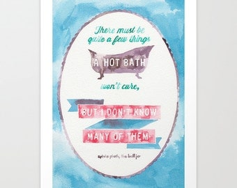 Sylvia Plath // Chromogenic Photographic Print