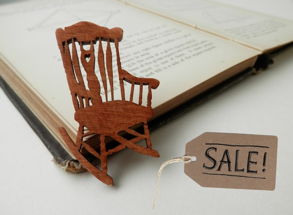 SALE - Rocking Chair Wooden Brooch
