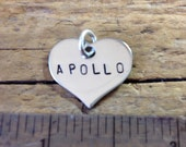 Add-on Stainless Steel Heart Tag, Custom Personalized Name Tag