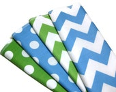 Blue and green unpaper towels chevron dots ,Eco friendly  napkins for kids, 4 reusable, wipes, 2 ply housewarming gift Easter spring