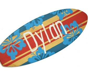 Personalized Name Signs, Decorative Surfboard Wall Art, Beach House Decor - 18 inch