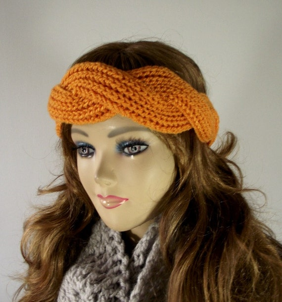 Twisted Headband Knit Pattern : KNITTING PATTERN HEADBAND twisted - Regina Headband - Ear warmer Knit Pattern...