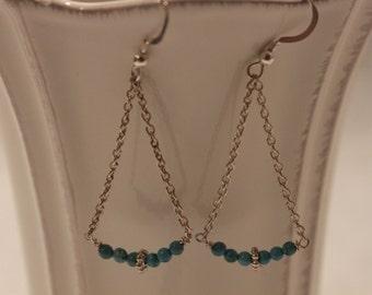 Turquoise Chain Earrings